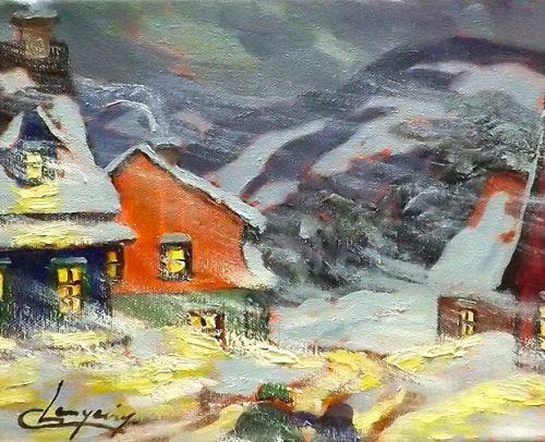 Claude Langevin Artist, Bourrasque-8x10