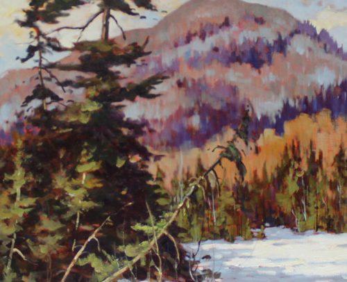 Claude Langevin Artist, Les grands pins 24x36