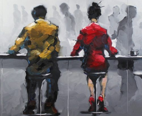 Harold Braul Artist, At the Bar 30x40