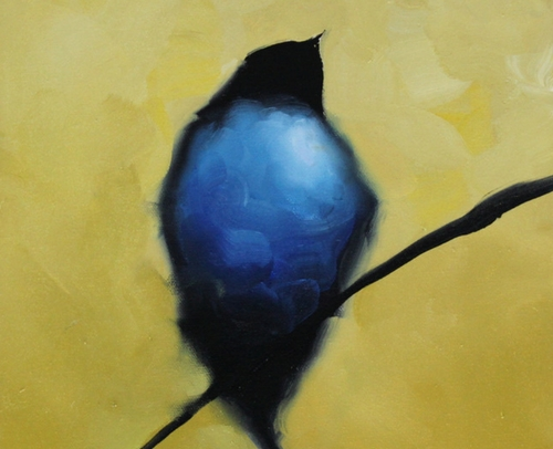 Harold Braul Artist, Blue Bird 14x11