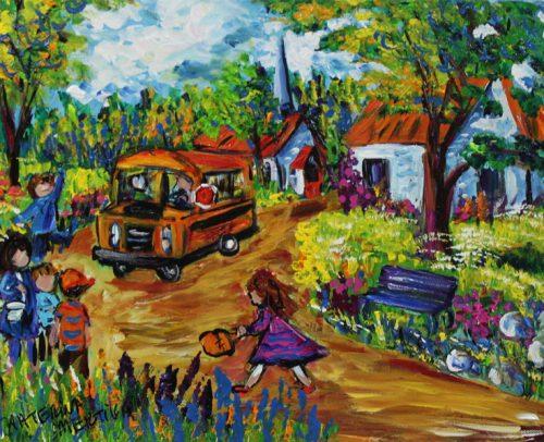 Katerina Mertikas Artist, Back to School 12x16