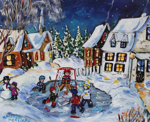 KKaterina Mertikas Artist, Great Hockey Tournaments 20x24