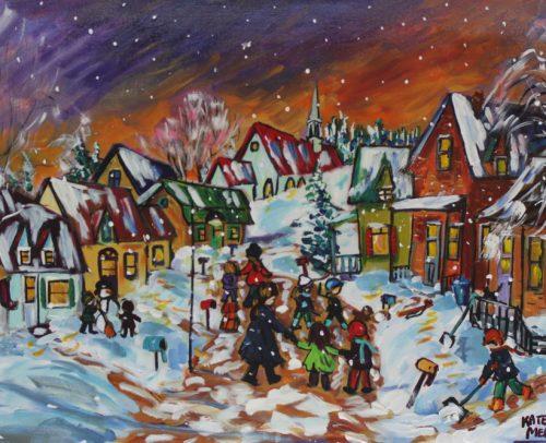 Katerina MertikasArtist, Snowfall Continues 24x36