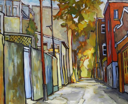 Sacha Artist, Montreal Alley 36x48