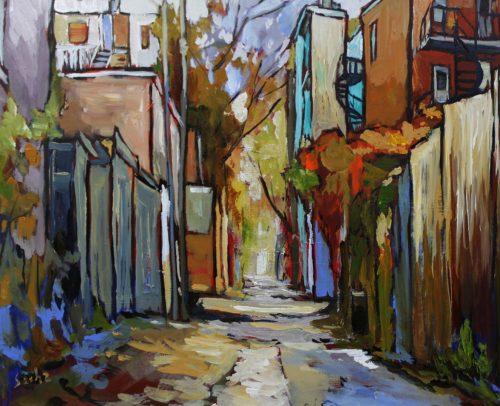 Sacha Artist, Sunlit Alley 24x30