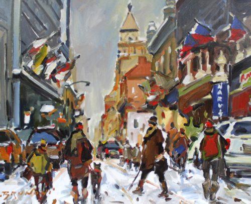 Brunoni Artist, Montreal, Notre Dame St. 30x40