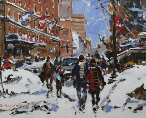 Brunoni Artist, Mtl. Sherbrooke Street West 30x40