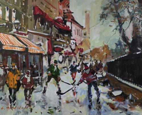 Brunoni Artist, Premiere neige d'automne 30x40