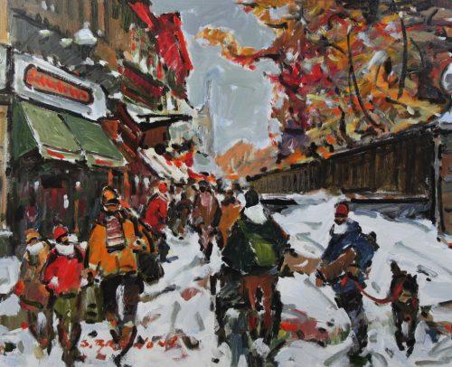 Brunoni Artist, Ste Anne St. Quebec City 30x40